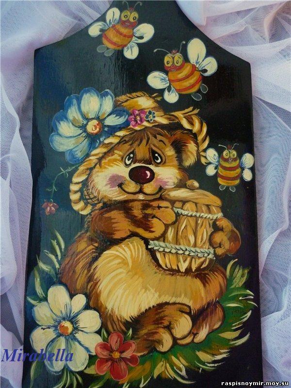 Разделочная доска Медвежонок